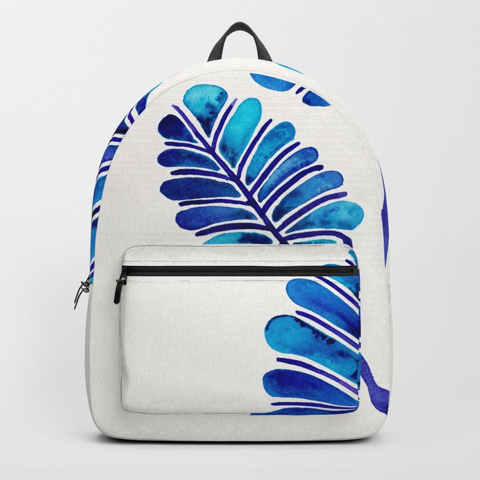 Tropical Palm Leaf Trifecta – Navy Palette Backpack