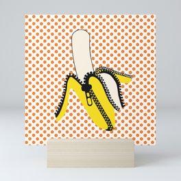 Pop Art Yellow Banana Zipped Mini Art Print