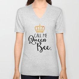 Queen Bee Funny Quote Unisex V-Neck