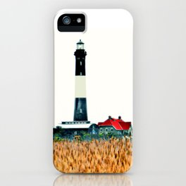 Fire Island Lighthouse HDR Photography iPhone Case