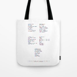 Phoenix Discography in Colour Code Tote Bag