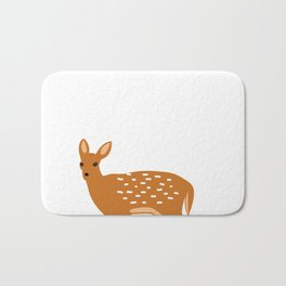 Baby Deer and Snow Bath Mat