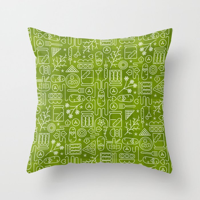 Pickles Picnic Throw Pillow