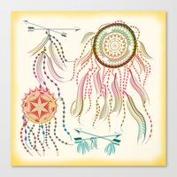 dream catcher Canvas Prints featuring Dream Catcher by famenxt