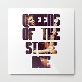 Queens Of The Stone Age QOTSA Font Josh Homme Guitar Metal Print