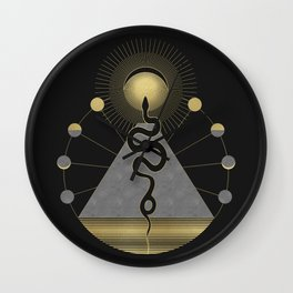 The Volcan by Night Wall Clock