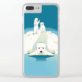 Polar bear cubs Clear iPhone Case