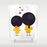 afro Shower Curtains featuring Afro Love by Piktorama
