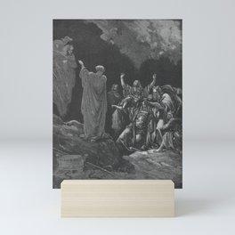 Gustave Doré - La Grande Bible de Tours (1866) 075 Saul and the Witch of Endor (1 Samuel 28:7) Mini Art Print