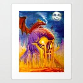 A Night On Skull Mountain Art Print