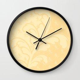 Ferny - Buff Wall Clock