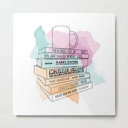 National Book Lovers Day Metal Print
