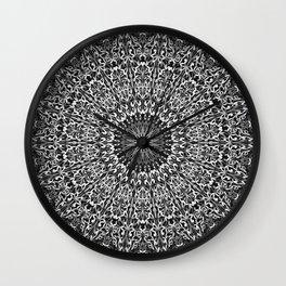 Grey Spiritual Mandala Garden Wall Clock