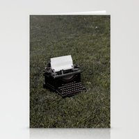 typewriter Stationery Cards featuring typewriter by rachel kelso