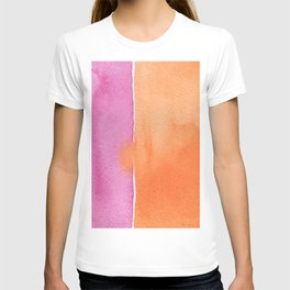Summer in pink and orange T-shirt