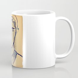 Blue Monsieur Coffee Mug