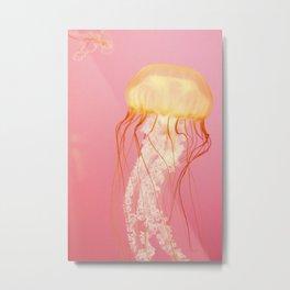 Pink Jellyfish Metal Print