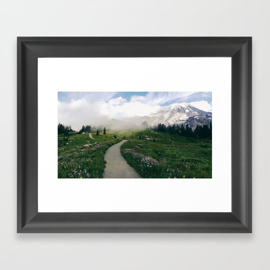 Mt Rainier Path Framed Art Print