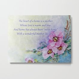 Mothers Day - Sweet Home Metal Print