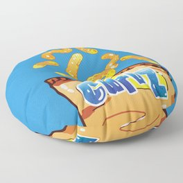 Cheese Curls : Junkies Collection Floor Pillow
