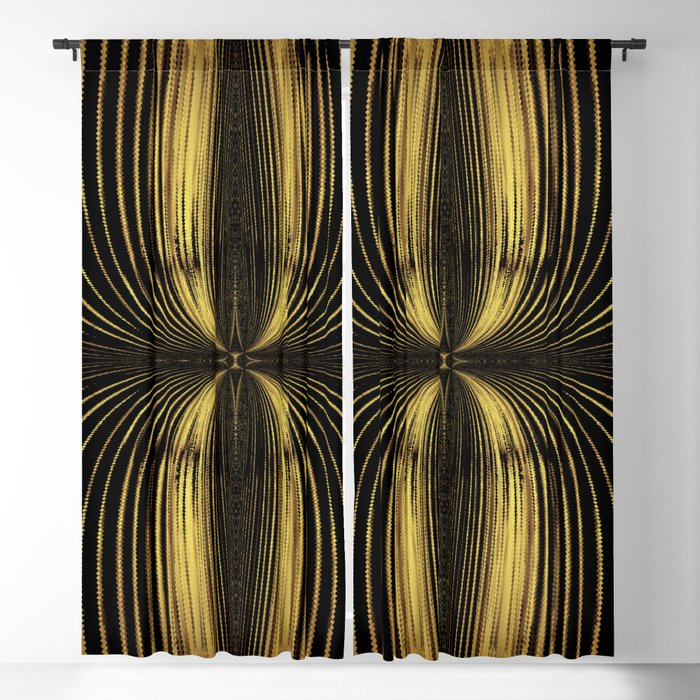 Golden Streamers Blackout Curtain