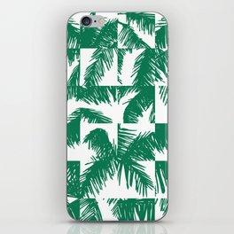 Palm Leaf Pattern Green iPhone Skin