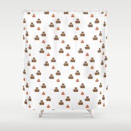 TOASTER PATTERN Shower Curtain