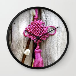 Chinese Knot (Magenta) Wall Clock