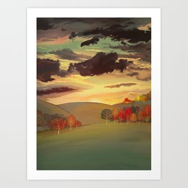 Gold field Art Print