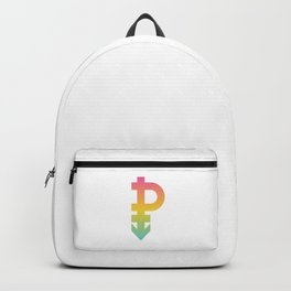 Pansexual Gender Symbol Omnisexuality Gender-Blind Cool Humor Design Pun Gift Backpack