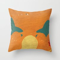 charizard Throw Pillows featuring Charizard by JHTY