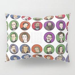 Portraits of Important Scientists Pillow Sham