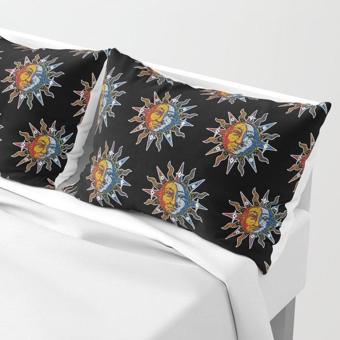 Celestial Mosaic Sun and Moon Pillow Sham