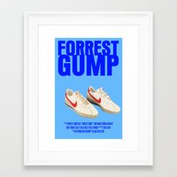 forrest gump Framed Art Prints featuring Forrest Gump Movie Poster by FunnyFaceArt