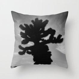 Cholla Cactus Garden XV Throw Pillow