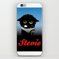 stevie nicks iPhone & iPod Skins featuring Stevie by Mike Halliday