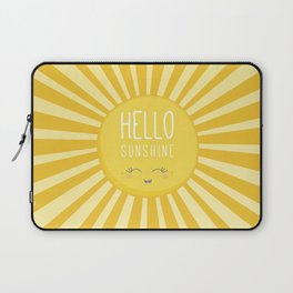 KAWAII SKY - happy smiling sun - hello sunshine quote Laptop Sleeve