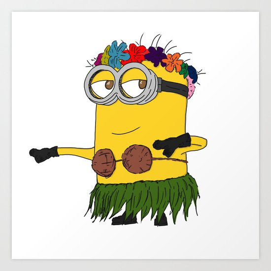 Hawaii Minion  Art Print