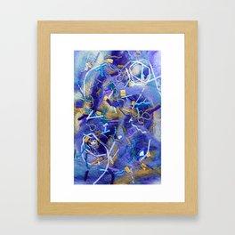 Purple Constellation Fibre Painting Framed Art Print