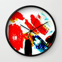 hipster Wall Clocks featuring Hipster  by mcmerriweather