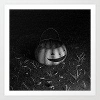 Drawlloween 2015: Pumpkin Art Print