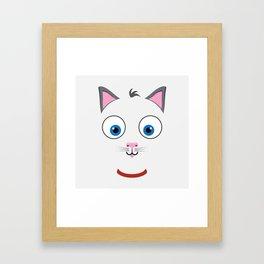 Cartoon Cat Framed Art Print