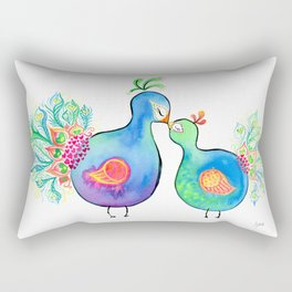 Peacock Fam Rectangular Pillow