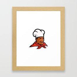 African American Chef Baker Mascot Framed Art Print