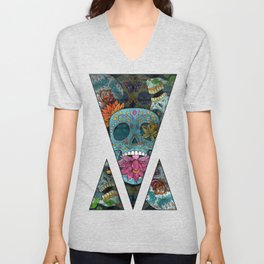 Sugar Skulls Art Unisex V-Neck