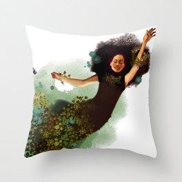 Flying Mina Throw Pillow