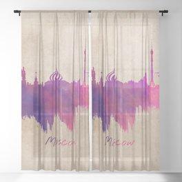 Skyline Moscow purple Sheer Curtain