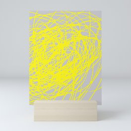 THIS YELLOW COIL Mini Art Print