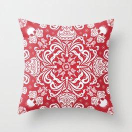 Scarlet Bandana Throw Pillow