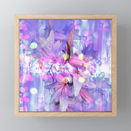 LILY IN LILAC AND LIGHT Framed Mini Art Print